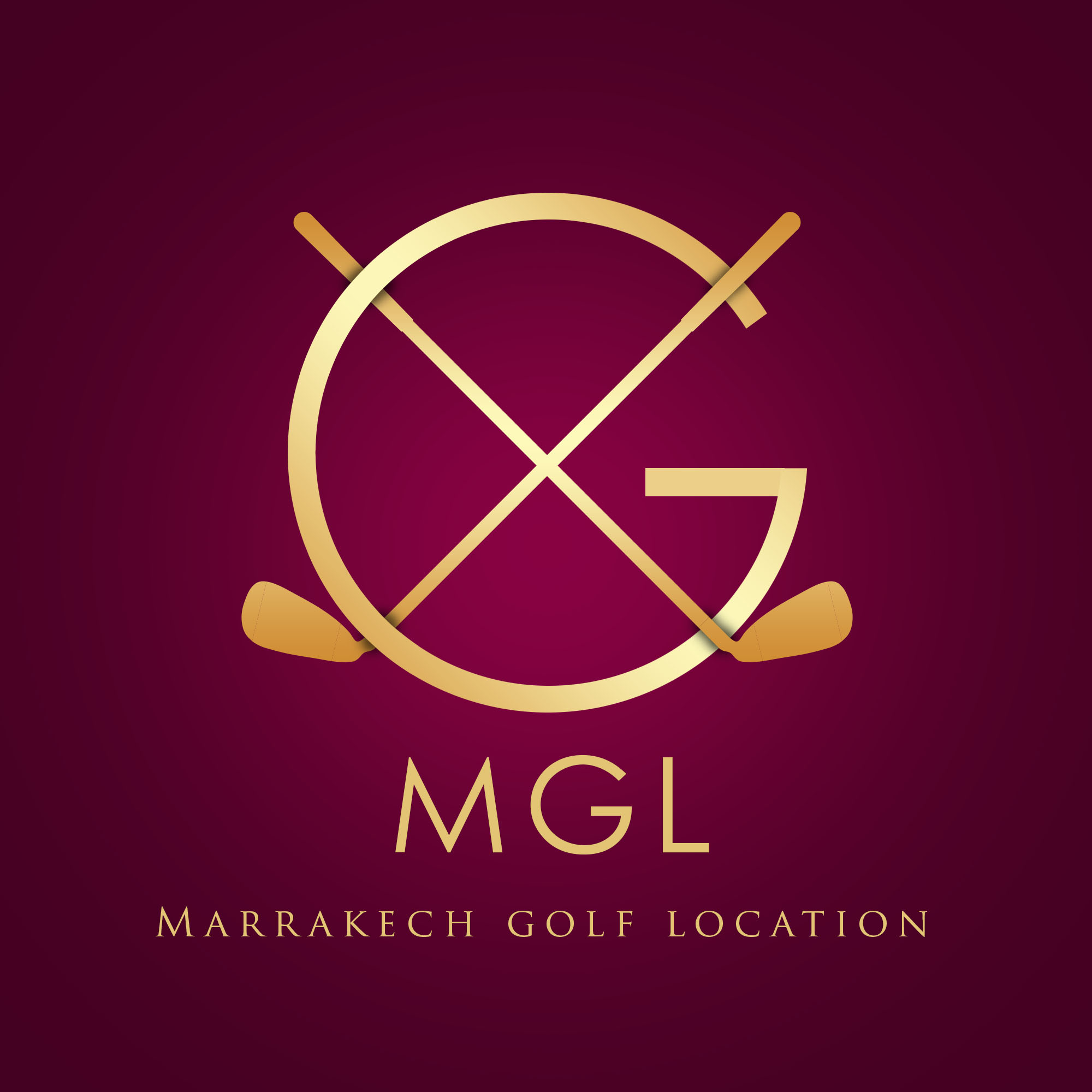 Logo de Marrakech golf location.