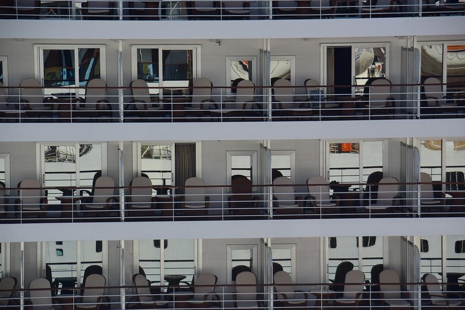 Cabines d'un navire de croisière.