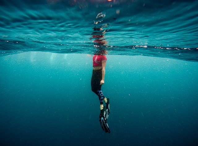 Snorkelling while yachting.